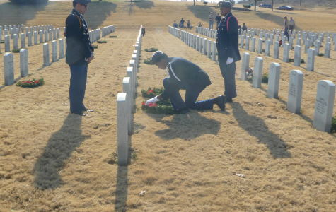 JROTC Leaves Wreaths at Soldiers' Graves