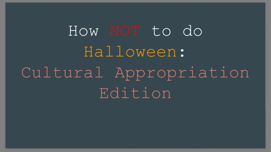How NOT to do Halloween: Cultural Appropriation Edition
