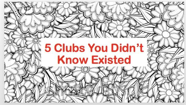 5 Clubs You Didn't Know Existed