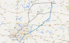 Oklahoma to Texas