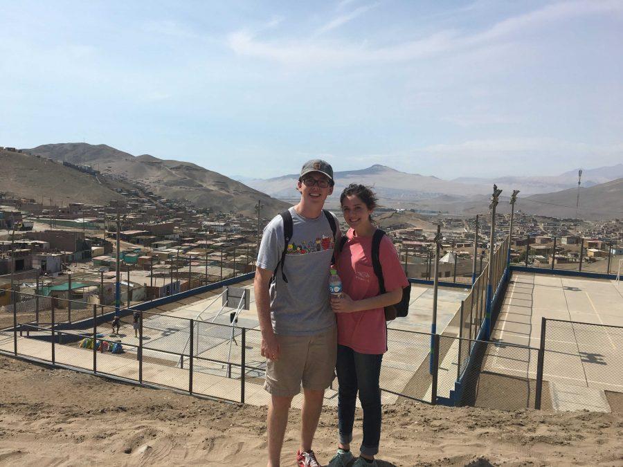 Caleb Padgett and his girlfriend in Peru.