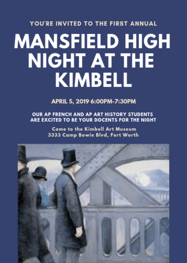 AP Art History and French IV Students to Host Kimbell Night in April